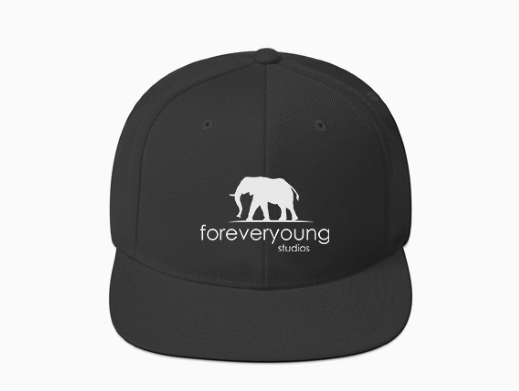 Foreveryoung Studios Online Shop Hat and shirts with Logo